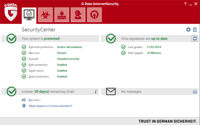 G Data Internet Security Screenshot 1
