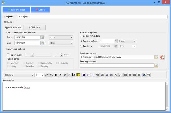 ADYcontacts Screenshot 2