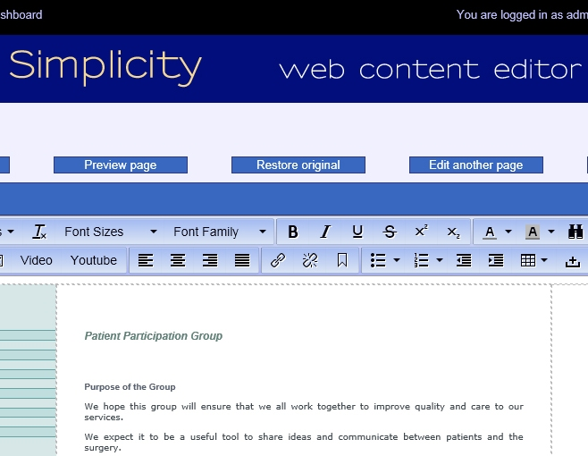 Simplicity Editor Screenshot 1