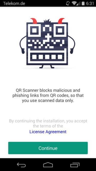 Kaspersky QR Scanner Screenshot 1