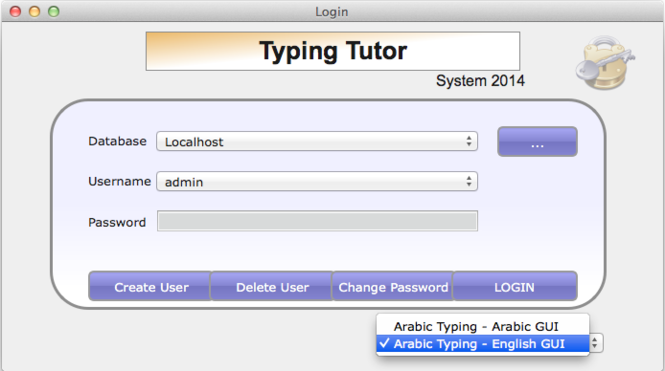 Arabic Typing Tutor Pro Screenshot