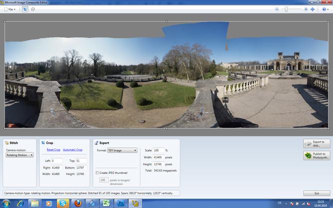 Microsoft Image Composite Editor Screenshot 2