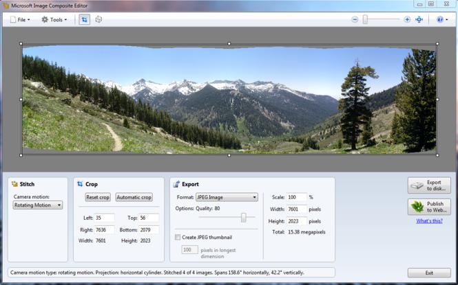 Microsoft Image Composite Editor Screenshot 3