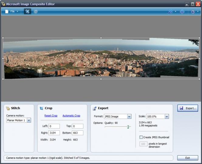 Microsoft Image Composite Editor Screenshot 4