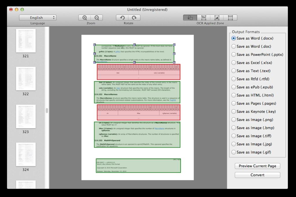 Cisdem PDFConverterOCR for Mac Screenshot