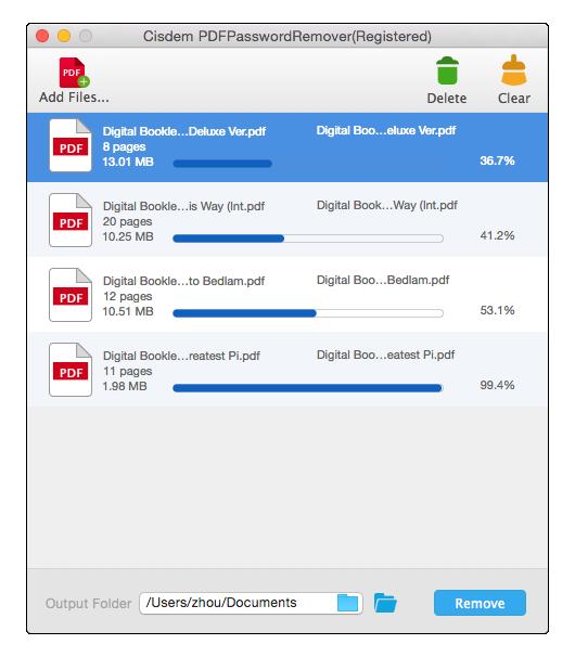 Cisdem PDFPasswordRemover for Mac Screenshot 5