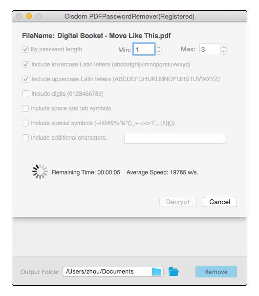 Cisdem PDFPasswordRemover for Mac Screenshot 2