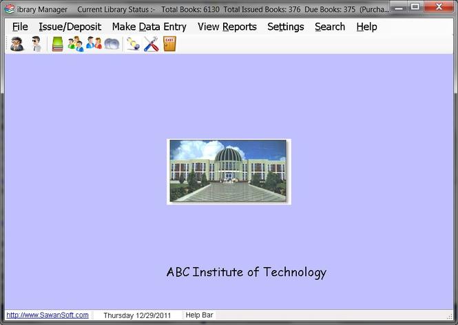 Library Manager Screenshot