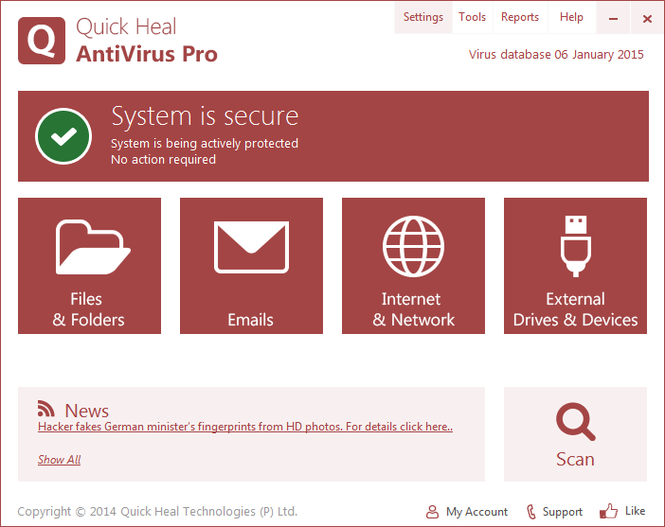 Quick Heal AntiVirus Pro Screenshot 1