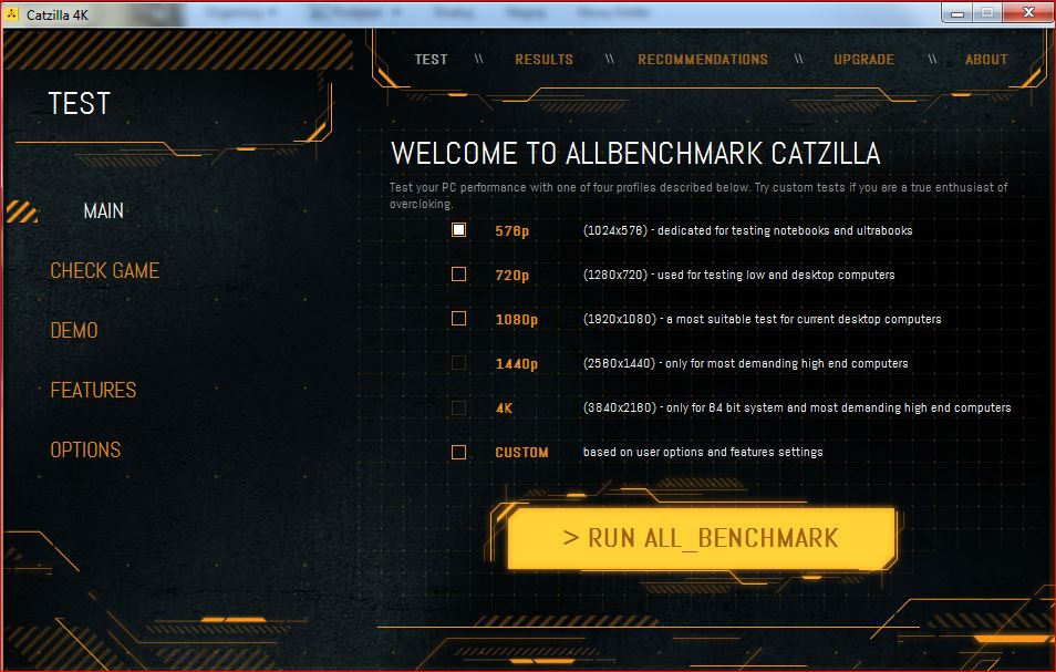 Catzilla ALLBenchmark Screenshot 2