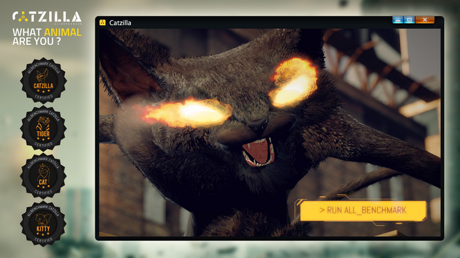 Catzilla ALLBenchmark Screenshot