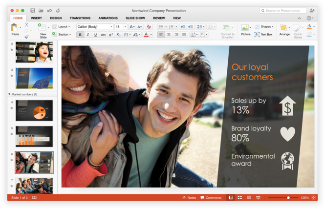 Microsoft Office 2016 Public Preview Screenshot 4