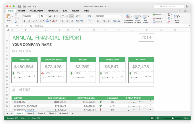 Microsoft Office 2016 Public Preview Screenshot