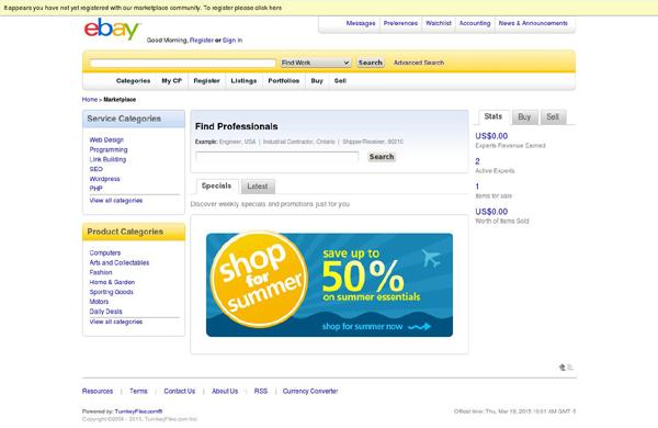 eBay Clone Script Screenshot 1