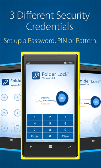 Folder Lock for Windows Phone Screenshot