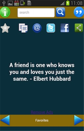 Friendship Quotes Screenshot