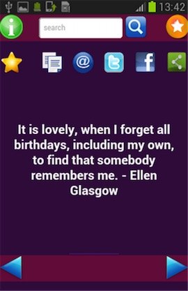 Birthday Quotes Screenshot