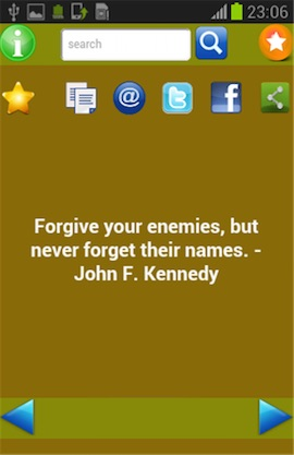 Quotes of Kennedy Screenshot