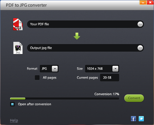 Free Jetico PDF to JPG Converter Screenshot