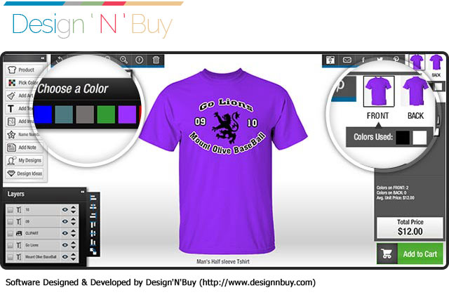 Tshirt Design Software Solution Screenshot