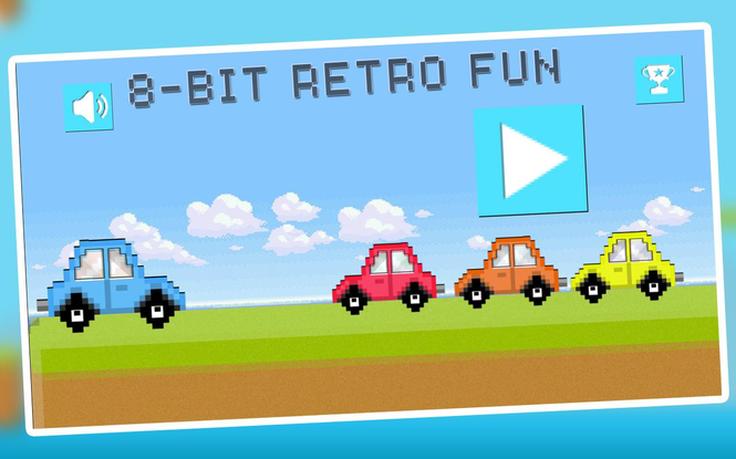 Jump Car Retro Screenshot