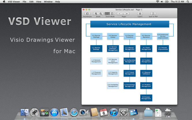 VSD Viewer Mac Screenshot 1
