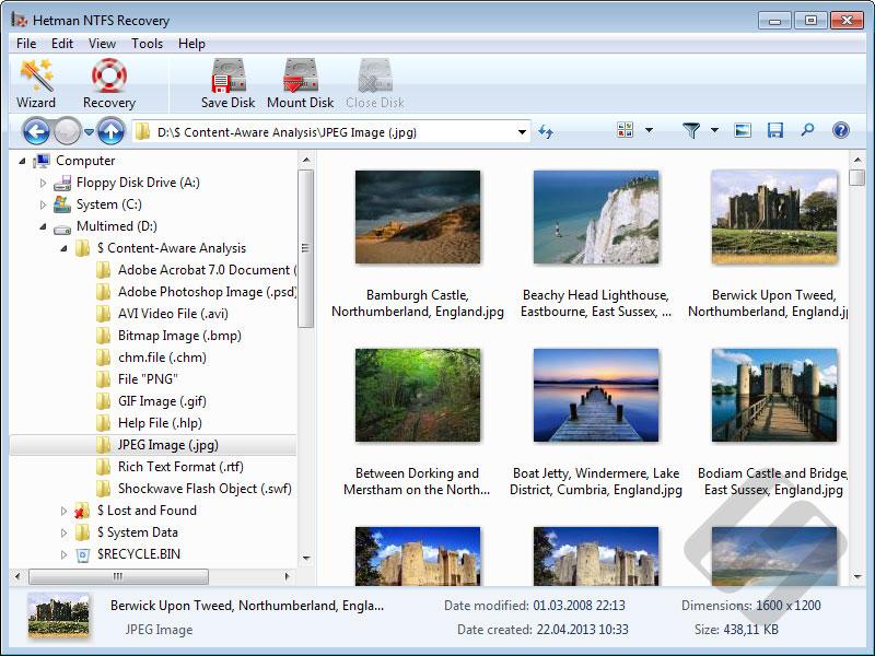 Hetman NTFS Recovery Screenshot 2
