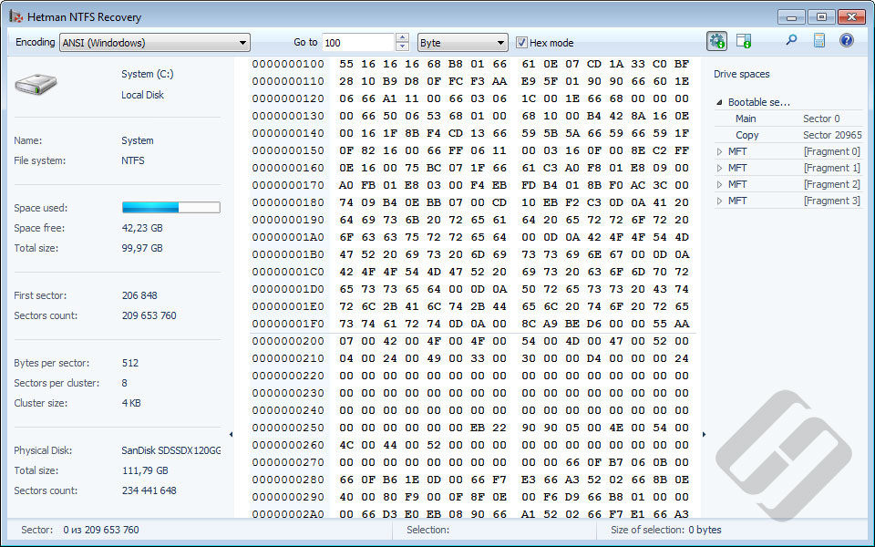Hetman NTFS Recovery Screenshot 4