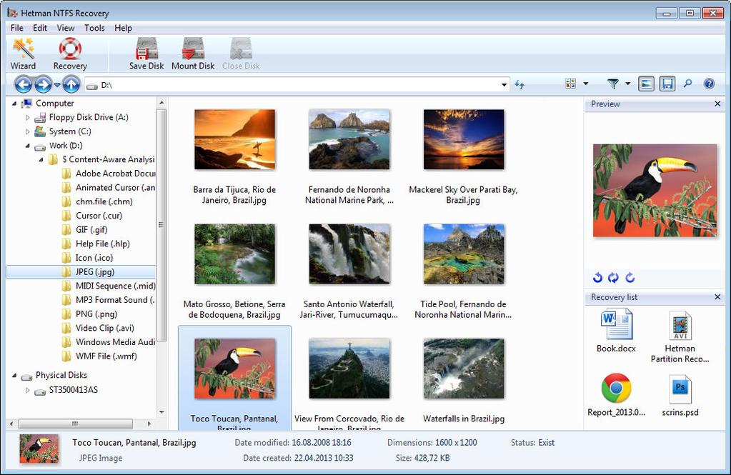 Hetman NTFS Recovery Screenshot 9