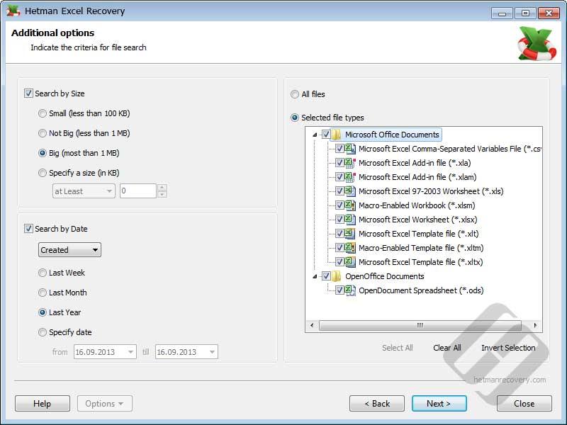 Hetman Excel Recovery Screenshot 4