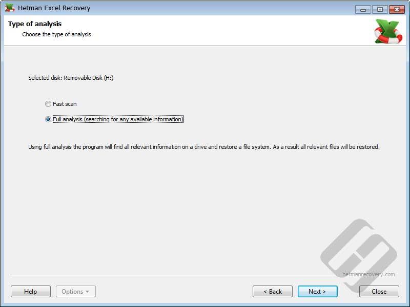 Hetman Excel Recovery Screenshot 2