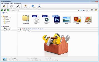 Hetman File Repair - Repair Files Corrupted after Data Recovery Process Screenshot