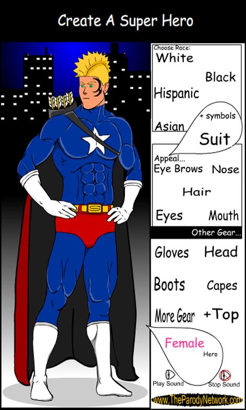 Create A Superhero Screenshot 1