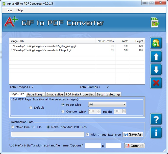 Aplus Convert GIF to PDF Screenshot 1
