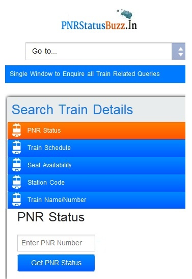 PNR Status Buzz Screenshot 1