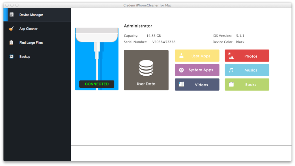 Cisdem iPhoneCleaner for Mac Screenshot 2