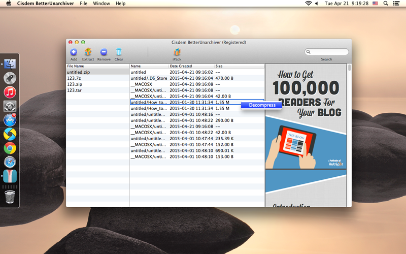 Cisdem BetterUnarchiver for Mac Screenshot 4