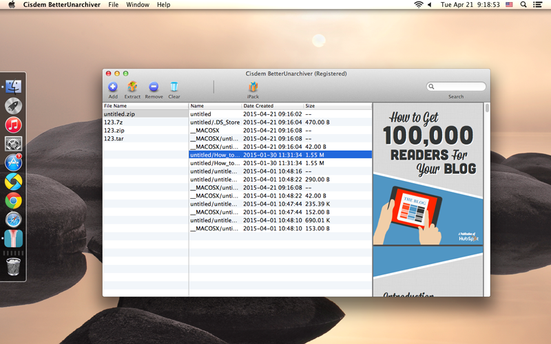 Cisdem BetterUnarchiver for Mac Screenshot 3