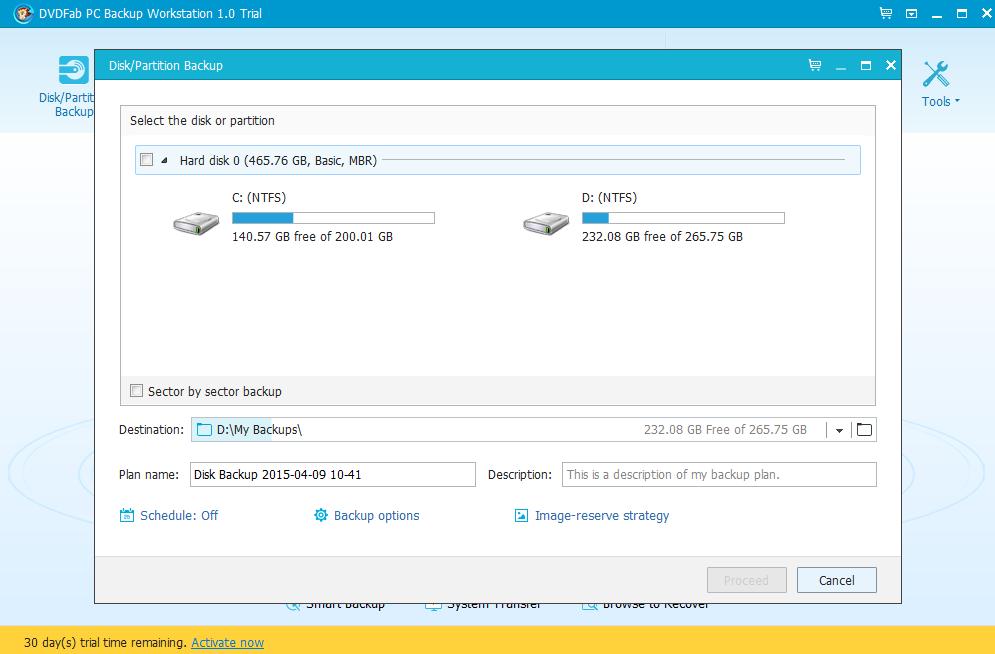DVDFab PC Backup Screenshot 2