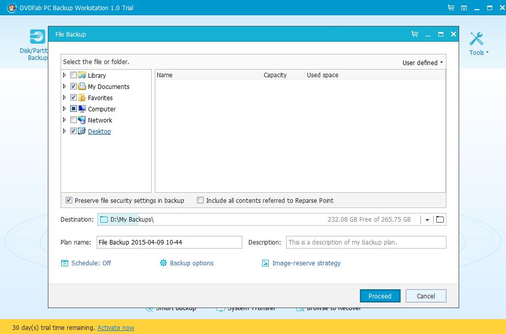 DVDFab PC Backup Screenshot 3