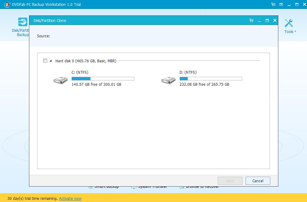 DVDFab PC Backup Screenshot