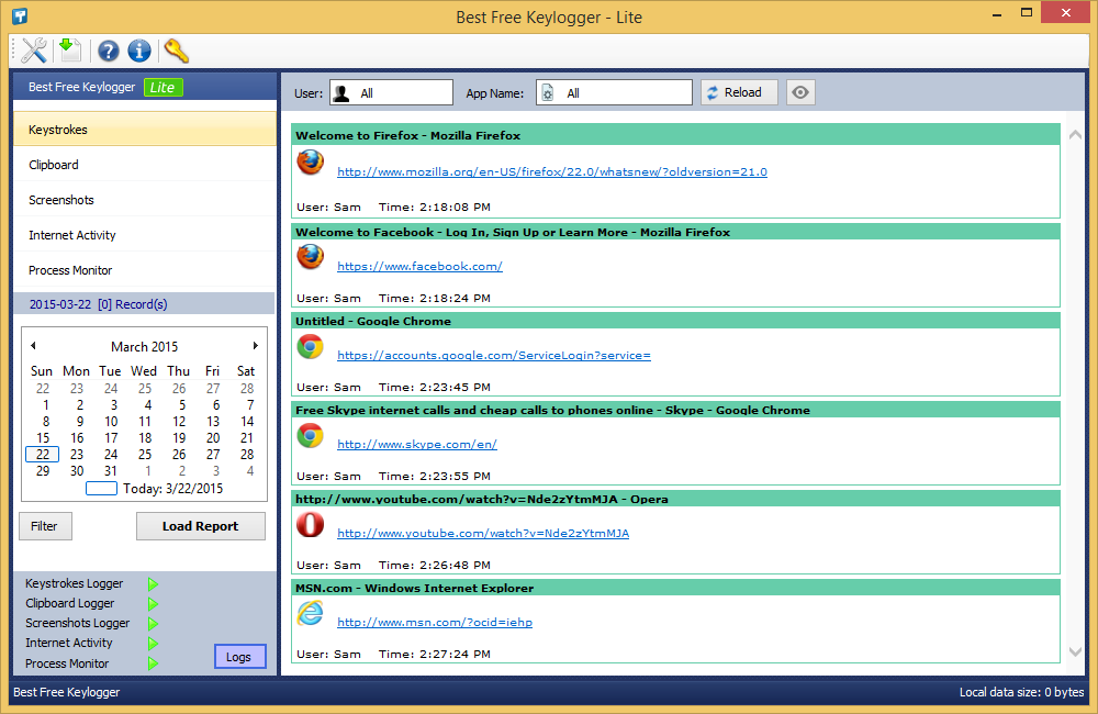 Best Free Keylogger Screenshot 2