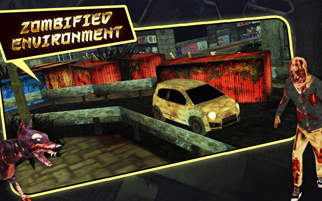 Zombie Car Parking Simulator - Stupid Dead Drive Challenge Screenshot 5