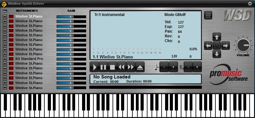 WINLIVE SYNTH DRIVER Screenshot 2
