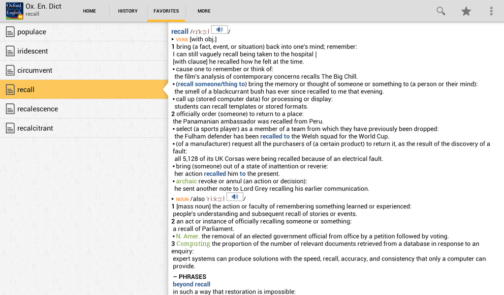 Oxford Dictionary of English with Audio Screenshot 8