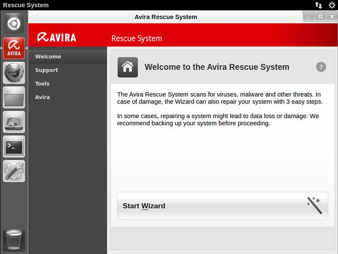 Avira Rescue System Screenshot 2