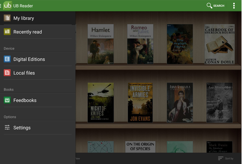 UB Reader Screenshot 2