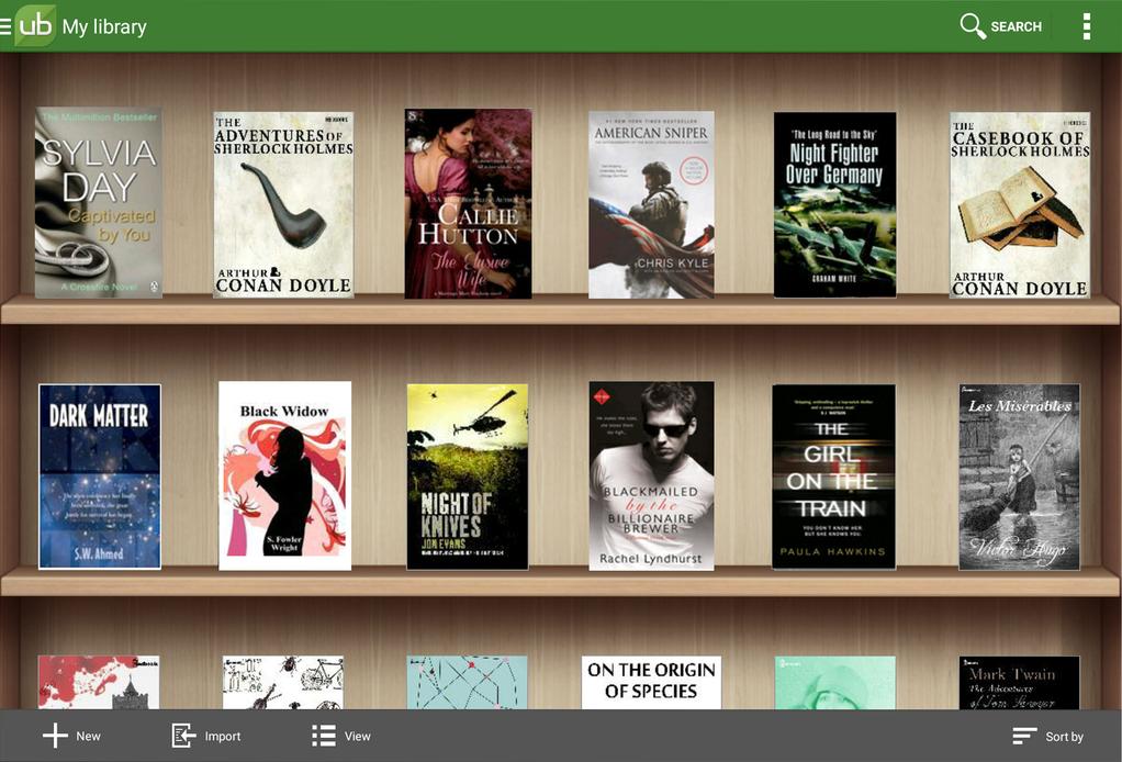 UB Reader Screenshot