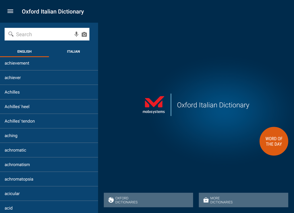 Oxford-Paravia Italian Dictionary Screenshot
