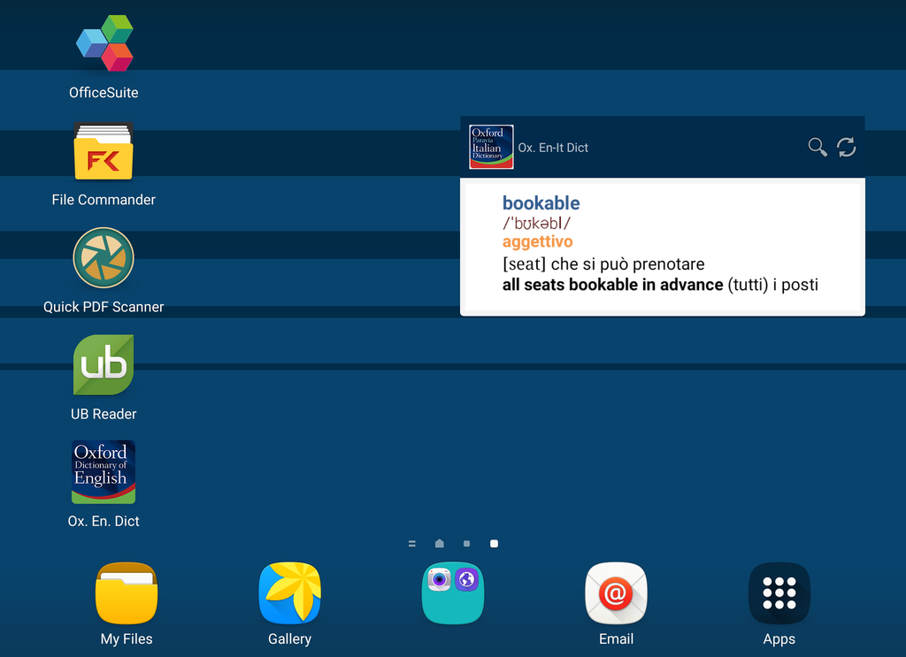 Oxford-Paravia Italian Dictionary Screenshot 7